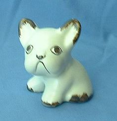 vintage Sylvac England white French bulldog 4""
