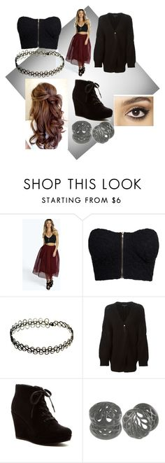 """Thanks for 350"" by blind-mous3 ❤ liked on Polyvore featuring Boohoo, NLY Trend, Ann Demeulemeester, Rampage and Charlotte Tilbury"