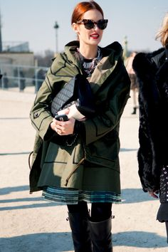 i'm really smitten with this swingy riff on military coats.  dramatic but really unfussy.  should be crumpled into a ball between wearings.