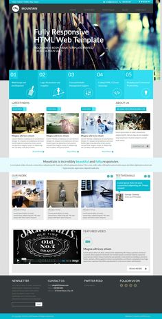 Metro Multipurpose HTML Template for portfolio or corporate. Blue color scheme, flat, modern. 25+ different page templates. Valid HTML5 / CSS3.