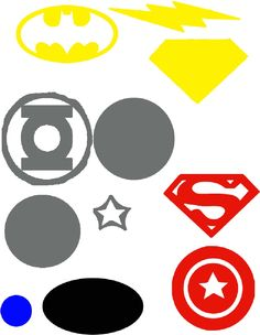 Superhero Pieces - download or print applique for heat transfer vinyl @Keila Acuña Britton Daves
