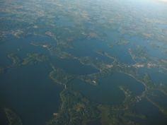 Beautiful Lake Minnetonka, one of Minnesota's most beautiful lakes with over 100 miles of lakeshore.