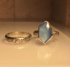 Handmade Gemstone Ring/Handmade Blue Chalcedony by Jewelriart