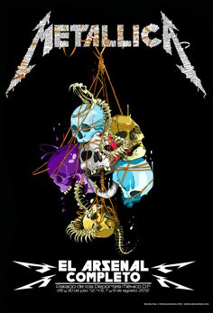 """""""Metallica Snake"""", poster by mexican artist Seher One"""