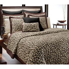 <li>Add some fun to your bedroom decor with a new quilt set</li><li>Set includes quilt and two shams (one in twin set)</li><li>Bedding is available in leopard print color option</li> Leopard Print Bedding, Animal Print Bedding, Animal Print Decor, Animal Prints, Leopard Prints, Cheetah Print, Bedroom Sets, Dream Bedroom, Bedroom Decor