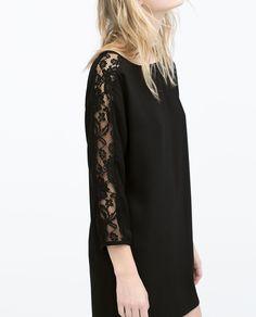 ZARA - WOMAN - COMBINED GUIPURE DRESS