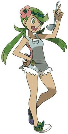 Mallow>>>> she's a cutie sadly I've never gotten a chance to play Pokemon but I've watched the black and white anime some others ( I think all but X and y ) but I hope one day I'll get a 2Ds and play sun and moon and x and y