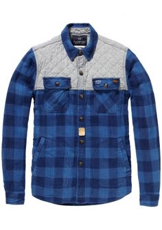 Scotch & Soda Quilted Hunting Shirt bij Eb & Vloed Lifestyle