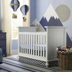 Wakefield Colors 3 in 1 Convertible Crib Bassett Furniture - Wakefield Colors crib Boy Decor, Baby Room Decor, Nursery Room, Nursery Ideas, Nursery Gray, Nursery Decor, Bedroom Ideas, Baby Boy Rooms, Baby Boy Nurseries