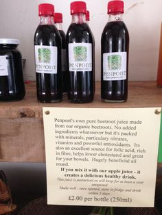 Penpont, Brecon, Powys. Penpont's own pure beetroot juice, made from our organic beetroots http://www.organicholidays.com/at/2857.htm