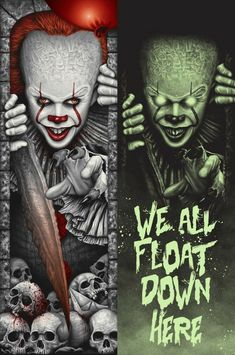 Clown Horror Movie, Horror Movie Characters, Arte Horror, Horror Movies, Pennywise Tattoo, Pennywise The Dancing Clown, Horror Artwork, Horror Icons, Iconic Movies