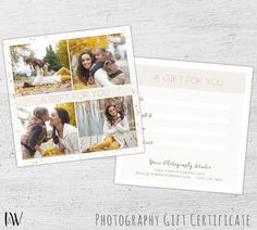 Photography gift certificate wedding photography photoshop gift card template fall photography photography gift certificate template photoshop template for photographers yelopaper Image collections