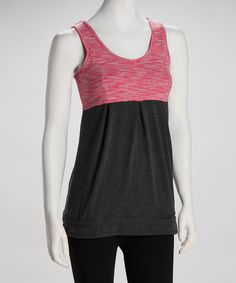 Take a look at this Charcoal & Salmon Tank by CONTACT on #zulily today! Looks comfortable enough to move but flattering to my current shape
