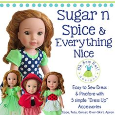 WellieWishers Sugar n Spice Everything Nice Dress and Accessories | YouCanMakeThis.com