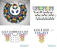 Колье.Схемы. Diy Necklace Patterns, Beaded Jewelry Patterns, Peyote Patterns, Beading Patterns, Necklace Tutorial, Beaded Collar, Native American Beading, Beading Tutorials, Loom Beading