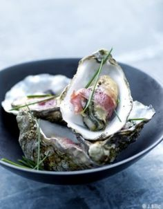 Oysters with Chives & Pancetta