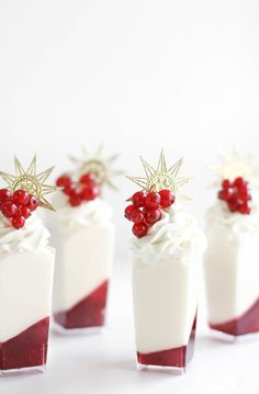 Winter White Marshmallow Mousse and Red Currant Verrines Recipe