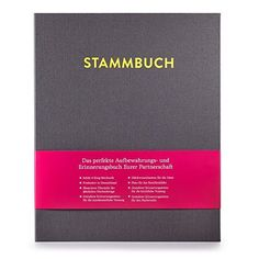 Modernes Stammbuch der Familie, Familienstammbuch (Platingrau)