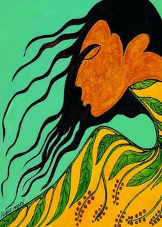 maxine noel prints | Early Spring - Maxine Noel    (Hair ... thoughts, intuition,       communication w/Spirit)