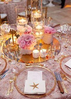 Gold is the perfect metal for a pink wedding ~ Colin Cowie Weddings