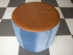Circum Jean & Cuero Mr Puff Bogota Ottoman, Chair, Table, Furniture, Home Decor, Benches, Leather, Decoration Home, Room Decor