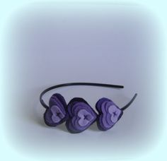 Purple headband girls hairbands heart hairband by BBBsDesigns, $8.00