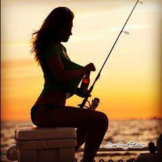 fishing on tumblr   saltyshores:Beer anyone? #beer #fish #fishing #silhouette #boat #girls ...