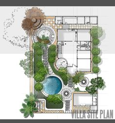 siteplan and landscape design for private villa in Qatar. Like the yin and yang of the landscape design. siteplan and landscape design for private villa in Qatar. Like the yin and yang of the landscape design. Plans Architecture, Landscape Architecture Drawing, Landscape Drawings, Architecture Diagrams, Landscape Architects, Architecture Portfolio, Garden Design Plans, Landscape Design Plans, Small Garden Plans