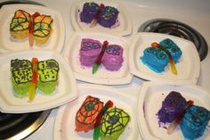 Butterfly cupcakes I made!