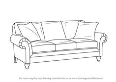 A Sofa looks difficult to draw but it is indeed easy with this quick and easy tutorial about how to draw one!