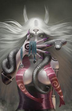 Tear of the snake, Denis Sdeart on ArtStation at https://www.artstation.com/artwork/ZqE11