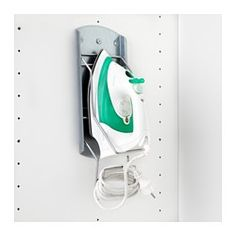 IKEA - VARIERA, Holder for iron, Keep things tidy with help from the included iron cord holder.Can be mounted within easy reach on the inside of a cabinet or directly on a wall.