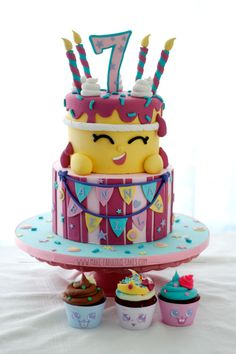 Shopkins Cake - tutorial with pictures by Make Fabulous Cakes