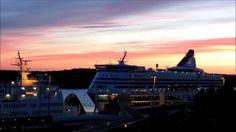 TimeLapse Viking Rosella Gabriella Silja Serenade Tallink Baltic Queen 1... Finland