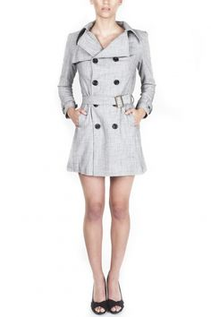 Feminine double breasted button coat