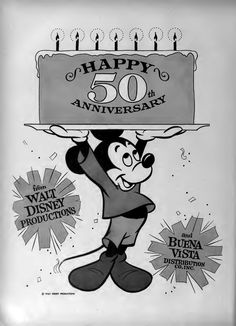 Boxoffice Magazine 50th Anniversary Walt Disney House, Walt Disney Company, Disney Home, Disney Facts, Disney Pixar, Disney Characters, Mickey Mouse And Friends, Mickey Minnie Mouse, Walter Elias Disney