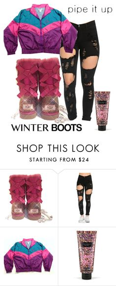 """#125"" by glogod ❤ liked on Polyvore featuring UGG and Victoria's Secret"