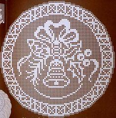 Hobby lavori femminili - ricamo - uncinetto - maglia: Schemi Di Natale uncinetto Filet Crochet, Crochet Doily Diagram, Crochet Amigurumi, Thread Crochet, Crochet Doilies, Crochet Patterns, Crochet Winter, Holiday Crochet, Crochet Gifts