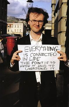 Gillian Wearing: Everything is connected in life the point is to know it and to unerstand it street photography people holding signs/quotes