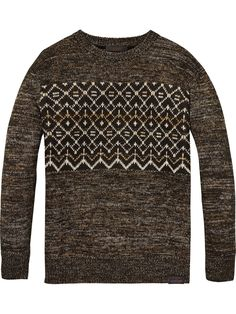 Lurex Intarsia Pullover | Pullovers | Men Clothing at Scotch & Soda