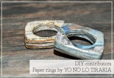 DIY: How to make rings with newspapers.  THIS is so cool! ☀CQ #recycle #paper #jewelry
