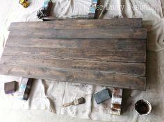 Build a Rustic Sofa Table