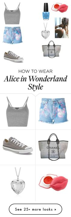"""""""Random #9"""" by mades246 on Polyvore featuring Forte Couture, Topshop, Converse, Blue Nile, OPI and Chanel"""