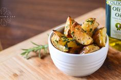 Rosemary and butter roast potato wedges Roasted Potato Wedges, Roasted Potatoes, Potato Salad, Creativity, Butter, Ethnic Recipes, Food, Baked Potatoes, Potato Fry