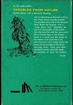 VINTAGE KIDS BOOK Bird Life in Wington Practical Parables for Young People - J. Calvin Reid - Reynold H. Weidenaar