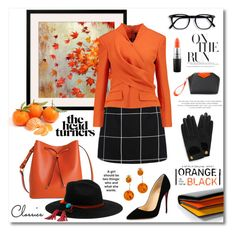 """""""Orange and Black"""" by magnolialily-prints ❤ liked on Polyvore featuring Lodis, Balmain, MAC Cosmetics, Christian Louboutin, Mulberry, Sensi Studio, Paul Smith, Givenchy, Be-Jewelled and Kate Spade"""
