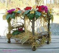 Make your own Fairy Bed:  small matchbox, glue twigs to design how you want.