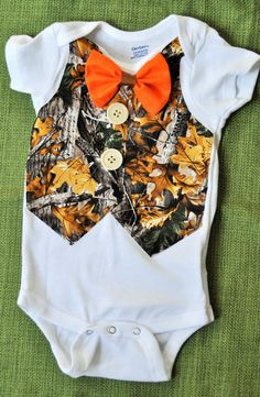 Rylo Country Boy / Hunter Vest orange bowtie and camo by RYLOwear Camouflage Baby, Baby Boys, Our Baby, Baby Outfits, Country Babys, Camo Baby Stuff, Cute Baby Clothes, Babies Clothes, Babies Stuff