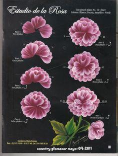 Uñas One Stroke, One Stroke Nails, One Stroke Painting, Tole Painting, Fabric Painting, Diy Painting, Acrylic Painting Techniques, Painting Lessons, Donna Dewberry Painting