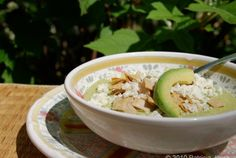 Avocado Soup with Queso Fresco